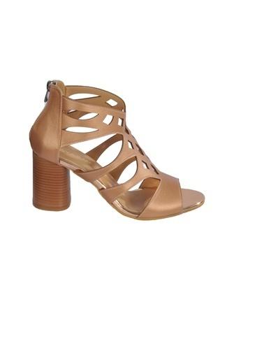 Maje 9837 Pudra Kadın Topuklu Ayakkabı Pudra